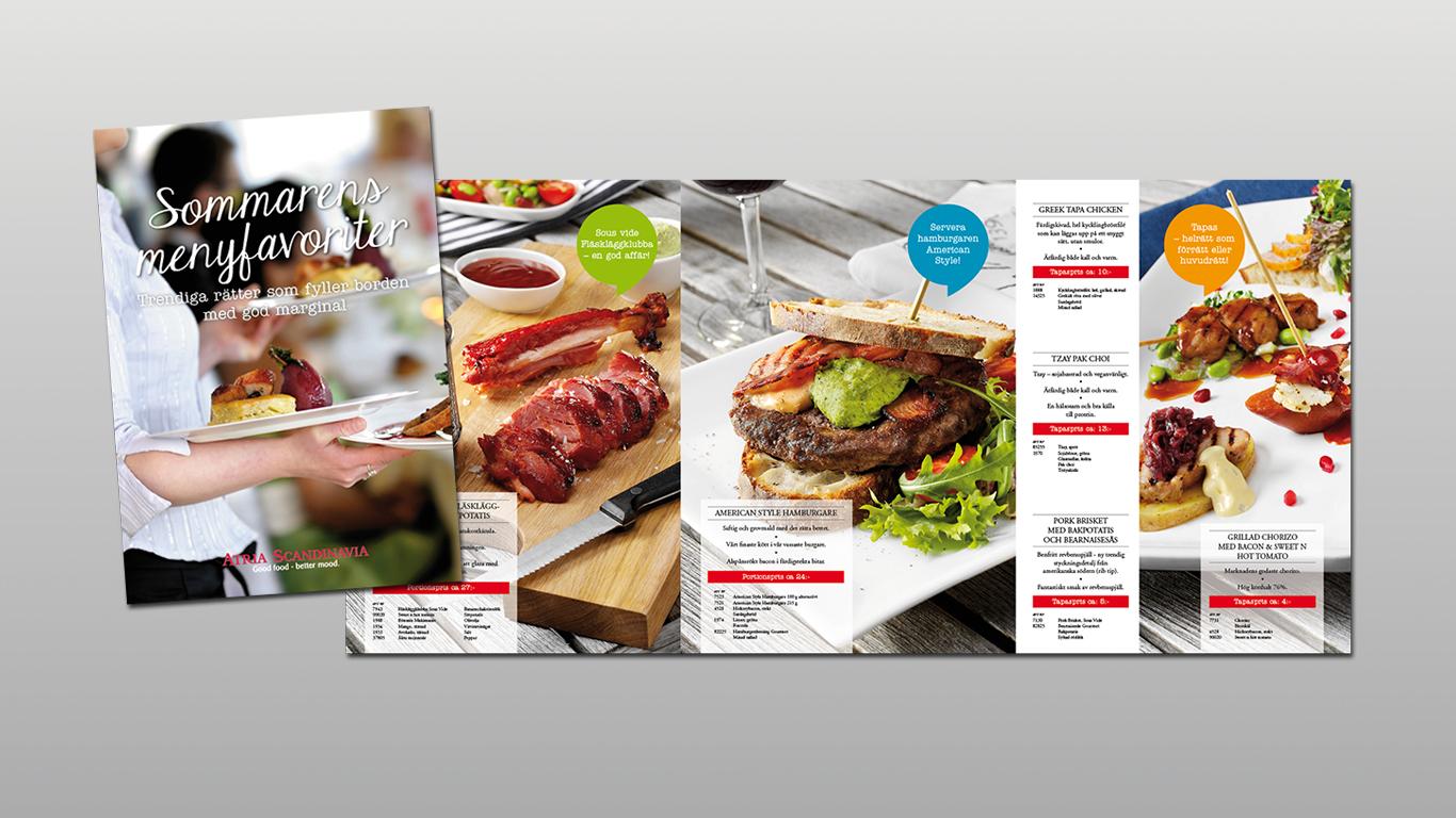 Atria Foodservice: Införsäljningsmaterial