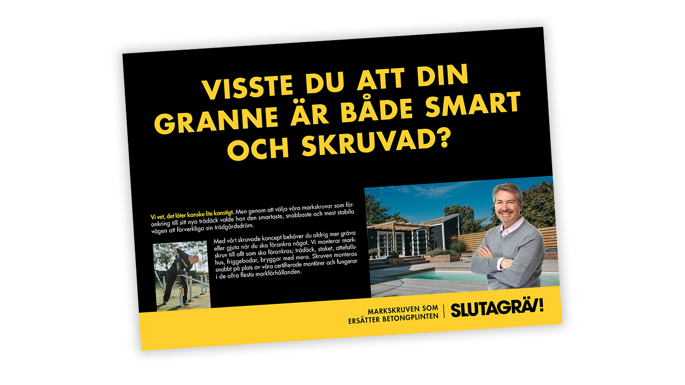 SLUTA GRÄV: DR, annons